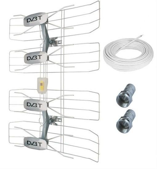 Antény Solight HN50 TV anténa 47dBi aktívna vonkajšie