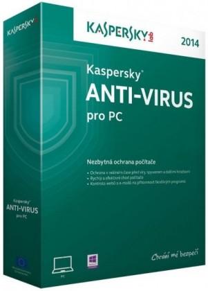 Antivírusové programy Kaspersky Anti-Virus 2014 CZ 1 PC 1 rok - Box
