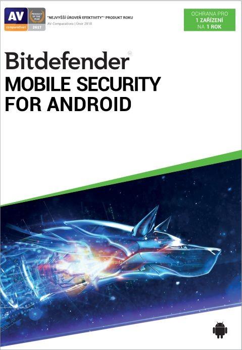Antivírusový program Antivír Bitdefender pre telefóny a tablety s Android, ročné lic.
