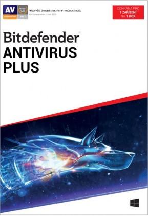 Antivírusový program Bitdefender Antivirus Plus, 1 zařízení, 1 rok