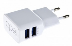 Apei Fast Charge 2x USB adapter + 1x MicroUSB cable