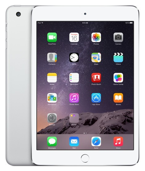 Apple iPad mini 3, 64 GB, Wi-Fi + LTE, strieborný