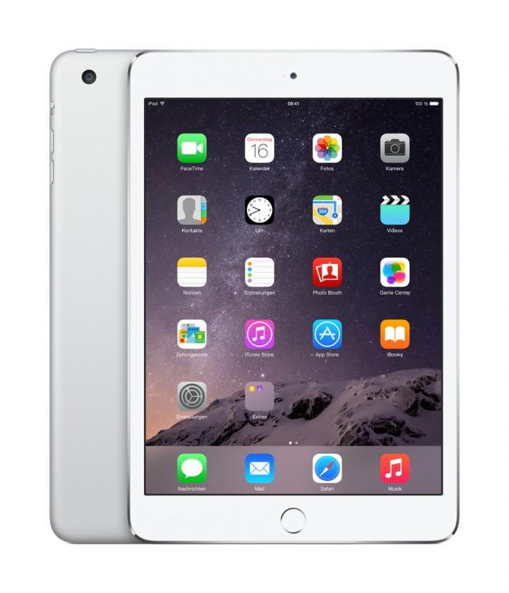 Apple iPad mini 3, 64 GB, Wi-Fi, strieborný