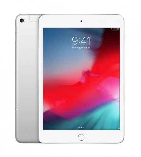 Apple iPad mini Wi-Fi + Cellular 64GB - Silver, MUX62FD/A