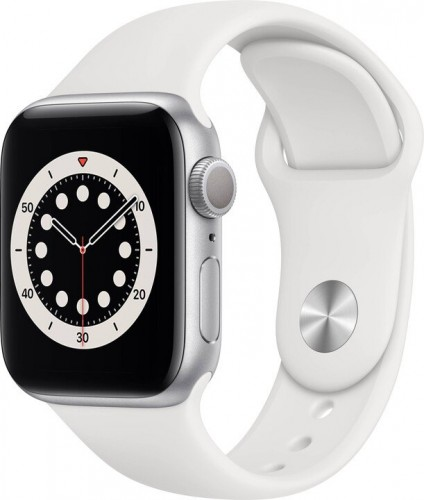 Apple Watch S6 GPS, 40mm, strieborná