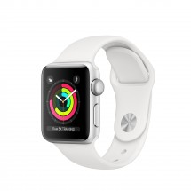 Apple Watch Series 3 GPS, 38mm, strieborná, športové remienok