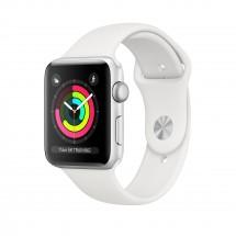 Apple Watch Series 3 GPS, 42mm, strieborná, športový remienok