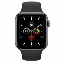Apple Watch Series 5 GPS, 44mm, sivá, športový remienok