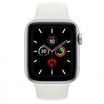 Apple Watch Series 5 GPS, 44mm, strieborná, športový remienok