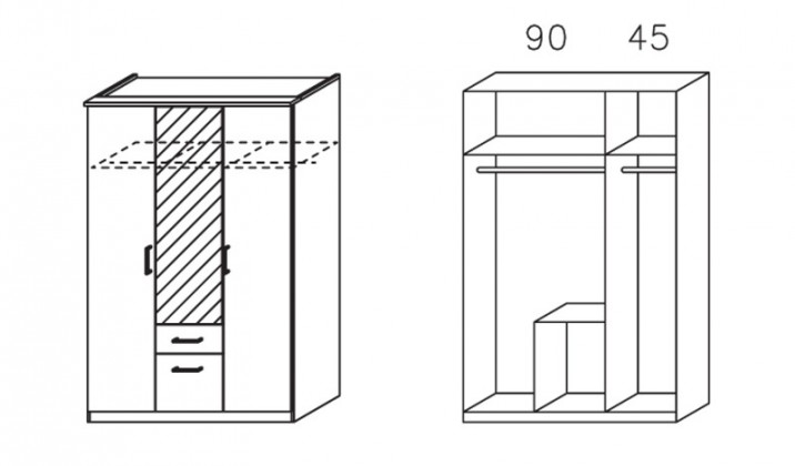 Apulien - s krídlovými dverami, 3x dvere
