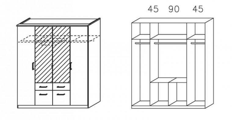 Apulien - s krídlovými dverami, 4x dvere