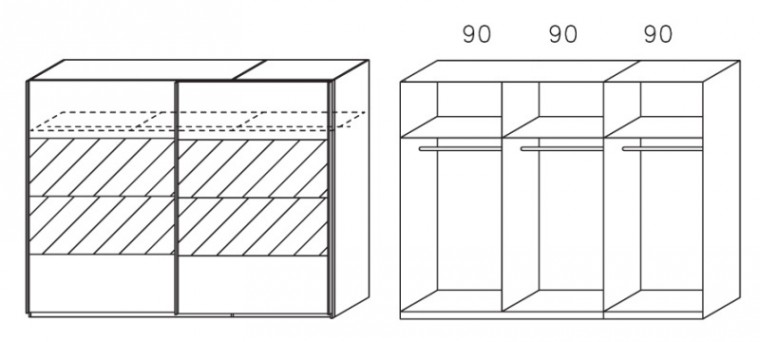 Apulien - s posuvnými dverami, 2x dvere
