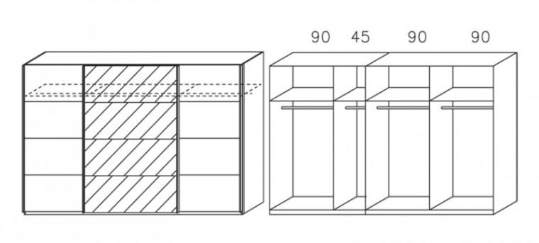 Apulien - s posuvnými dverami, 3x dvere