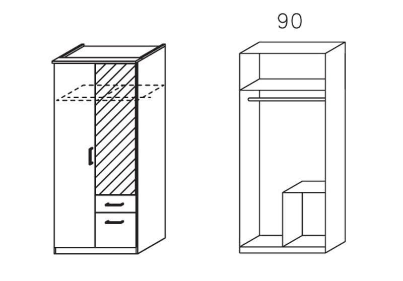 Apulien - skriňa s 2x krídlovými dverami