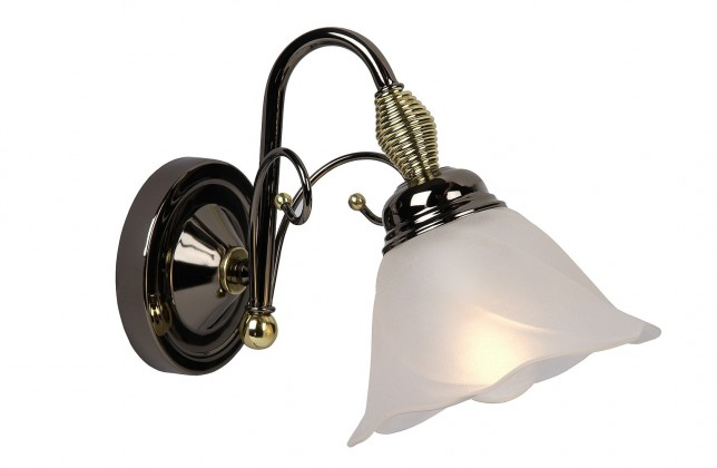 Arabba - nástenné osvetlenie, 40W, E14 (čierna)