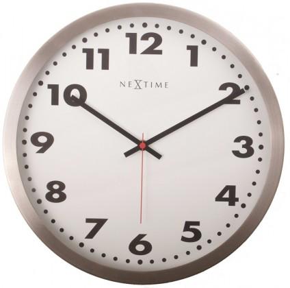 Arabic - hodiny, nástenné, guľaté (sklo, nerez, biele)