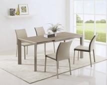 Arabis 2 - Jedálenský stôl 120-182x80 cm (svetlo hnedá, béžová)