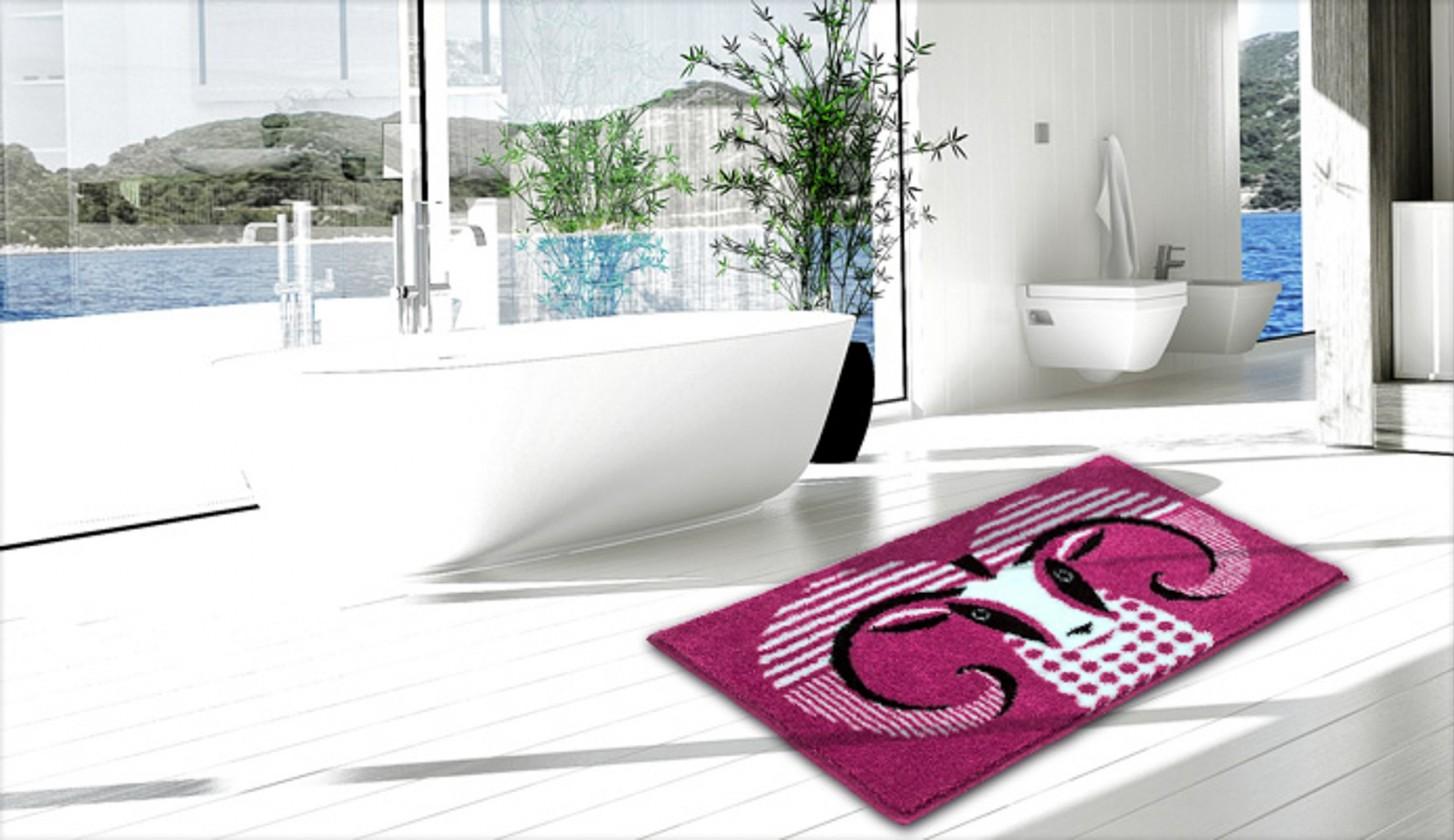 Aries - Kúpeľňová predložka 60x90 cm (ružová)