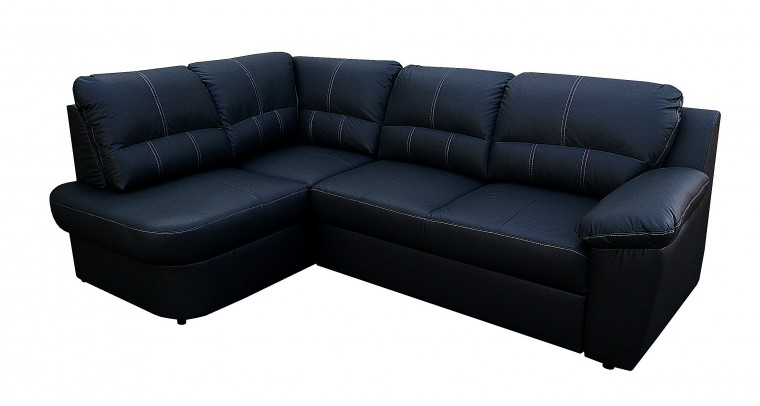 Arosa - roh ľavý, rozkladacia (čierna koža/eko)