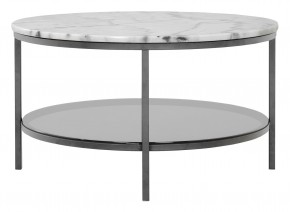 Ascot - Konferenčný stolík, kruh 85 cm (prírodný mramor, oceľ)