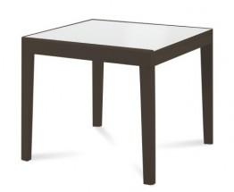 Asso 90 - Jedálenský stôl (extra biela, wenge)