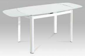 AT - jedálenský stôl (biele sklo/biely lak)