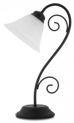 Athen - Lampička, E14 (černý kov/biela)