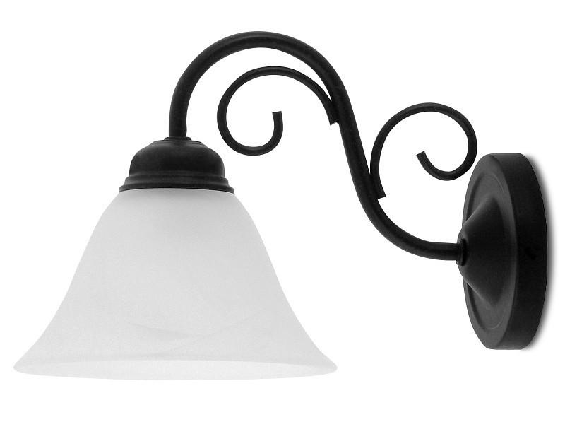 Athen - Nástenné osvetlenie,7811 (matne čierna/biela alabastrová)