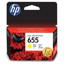 Atramentová kazeta HP CZ112AE, HP 655 žltá