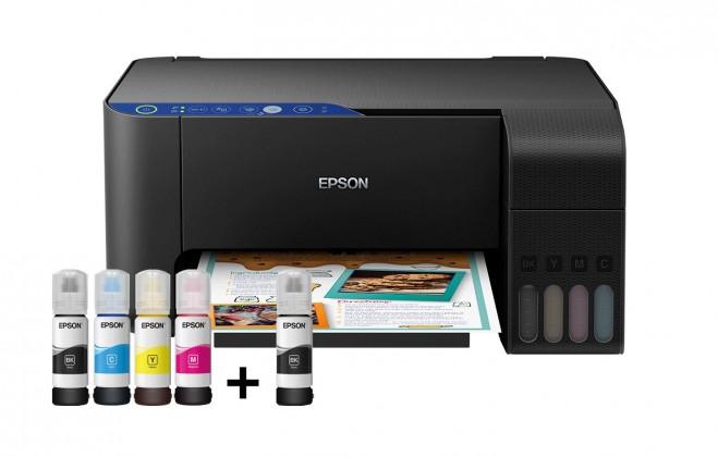 Atramentová tlačiareň Multifunkčná atramentová tlačiareň Epson EcoTank L3151 farebná
