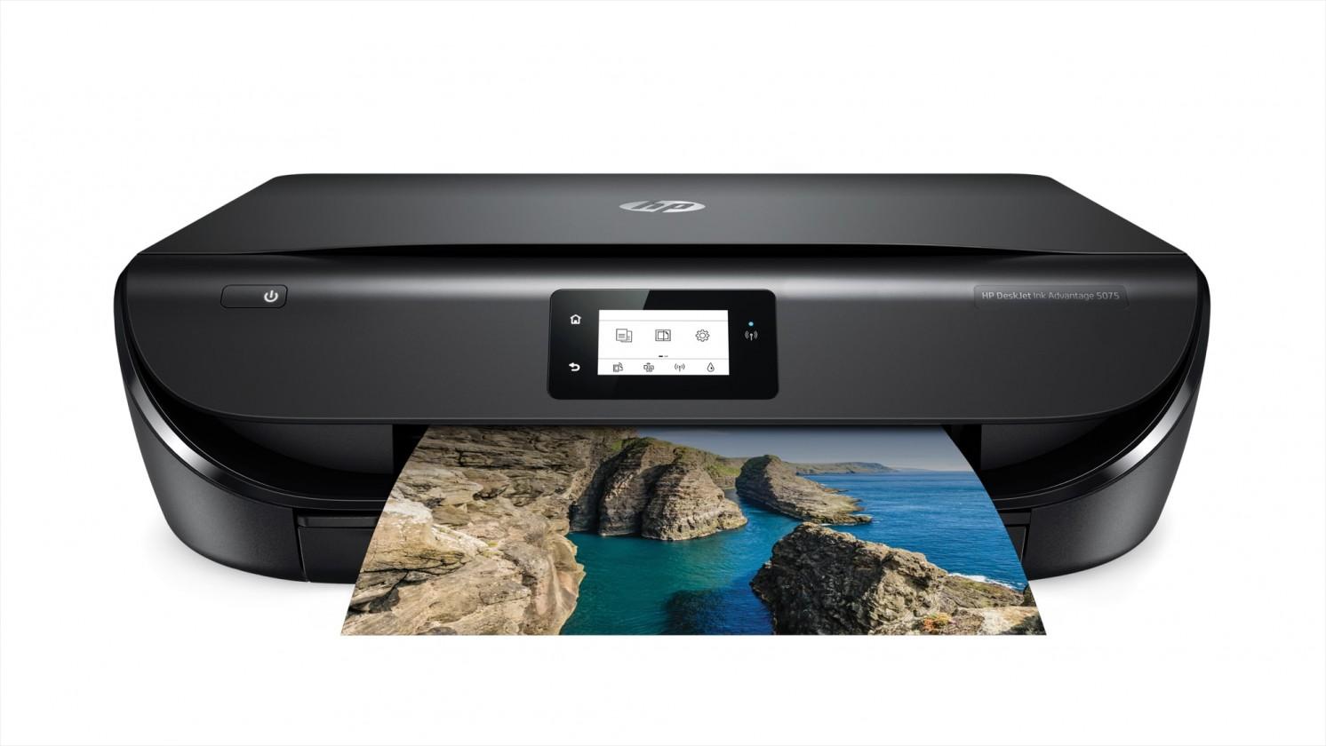 Atramentová tlačiareň Multifunkčná atramentová tlačiareň HP DeskJet Ink 5075 farebná