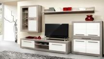Atrium ATRM02B (šedá dub sonoma/biela lesk)