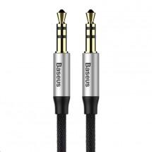 Audio kábel Baseus Yiven M30 3.5 mm, jack/jack, 0,5 m, čierny