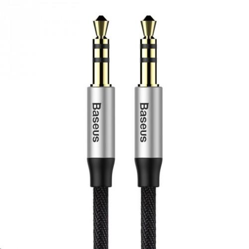 Audio kábel Baseus Yiven M30 3.5mm, jack/jack, 0,5m, čierna