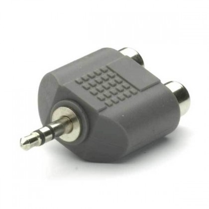 Audio káble, repro káble + konektory Adaptér Vivanco 30194 Teccus jack/2xRCA
