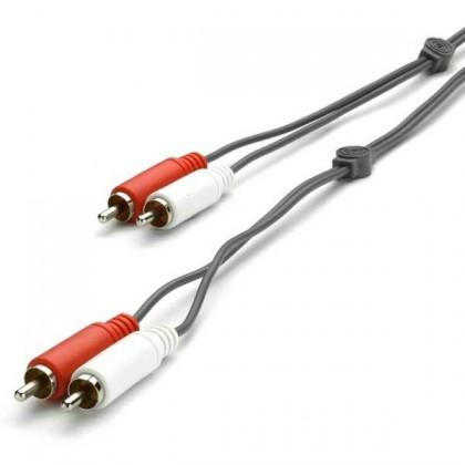 Audio káble, repro káble + konektory Audio kábel Vivanco V30187, 2x2 cinch, 5m