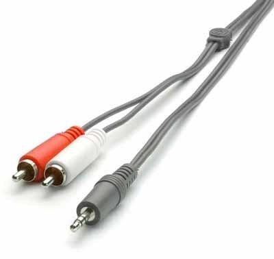 Audio káble, repro káble + konektory Audio kábel Vivanco V30191 1x Jack / 2x Cinch 5m