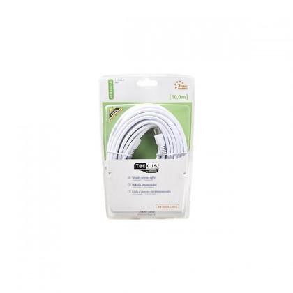 Audio káble, repro káble + konektory Koaxiálny kábel Vivanco V30221, 10, biely