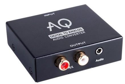 Audio káble, repro káble + konektory Konvertor digitální/analógové audio Acoustique Quality AC01DA