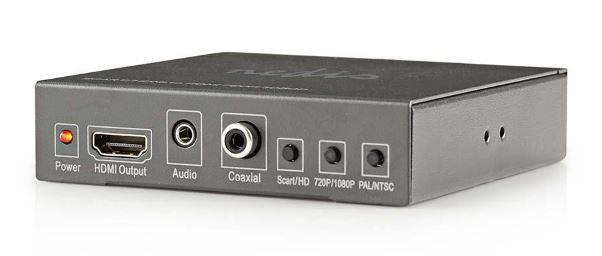 Audio káble, repro káble + konektory NEDIS prepínač / SCART + HDMI vstup - HDMI výstup / Full HD