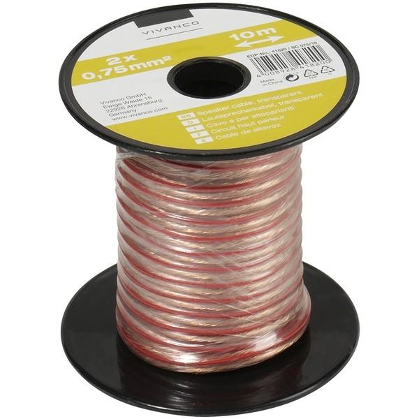 Audio káble, repro káble + konektory Reprokabel Vivanco 21247, 0,75mm, 10m