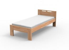 Augusta - Rám postele 200x90, matrace (masív buk, prírodný lak)
