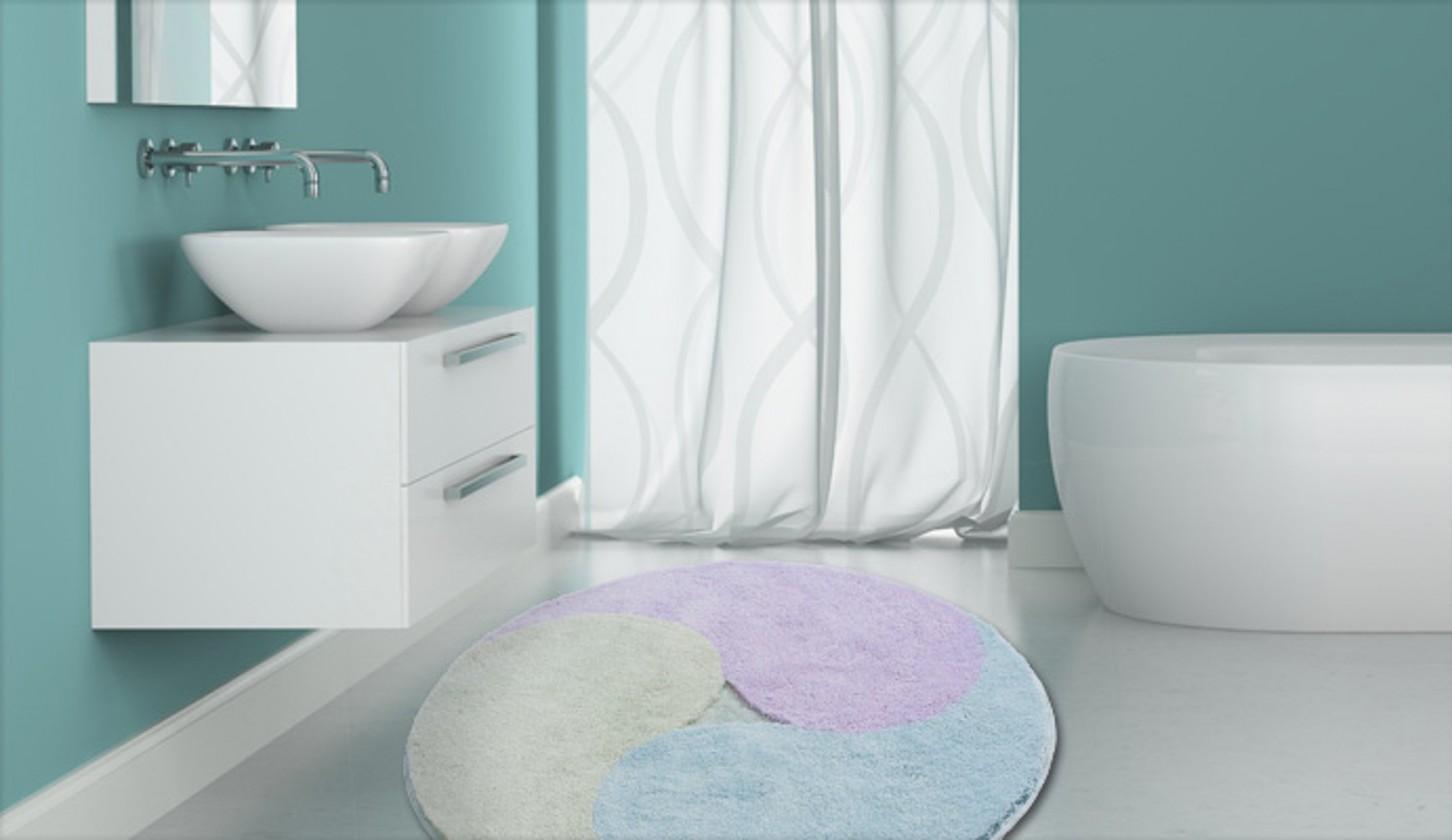 Aum - Předložka kruh, 100 cm (nefritová-ľadovo modrá-šeříková)