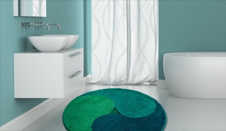 Aum - Předložka kruh, 140 cm (zelená-smaragdová-petrolejová)