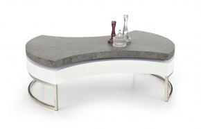 Aurea 2 - Konferenčný stolík (biela, beton, chrom.nohy)