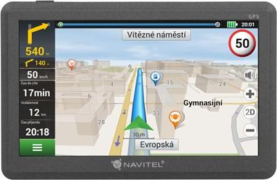 """Auto navigácia GPS Navigácia Navitel E200 5"""", Truck, speedcam, 15 krajín, LM"""
