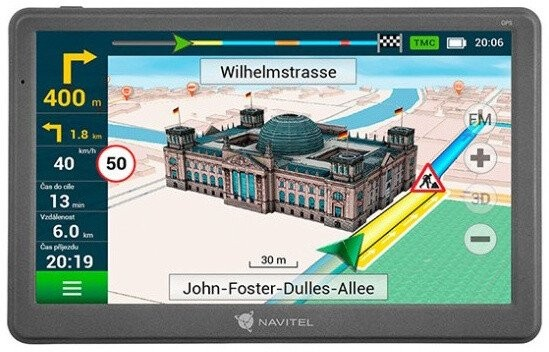 """Auto navigácia GPS Navigácia Navitel E700 7"""", Truck, speedcam, 47 krajín, LM"""
