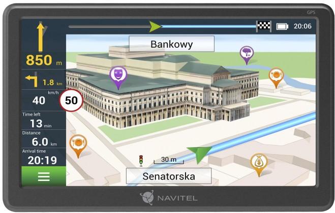 """Auto navigácia GPS Navigácia Navitel E707 7"""",Truck, speedcam, 47 krajín, LM"""