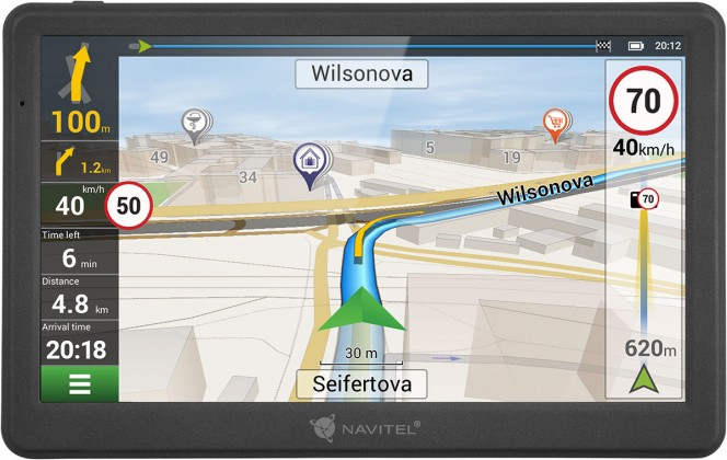 """Auto navigácia GPS Navigácia Navitel MS700, 7"""" doživotná aktualizácia"""
