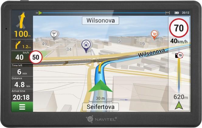 """Auto navigácia GPS Navigácia Navitel MS700 7"""", Truck, speedcam, 47 krajín, LM"""